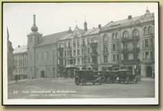 gammelt postkort fra ullevålsveien med biler