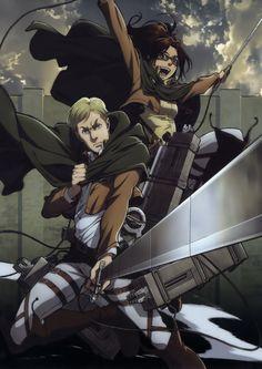 Shingeki no kyojin- Erwin and Hanji