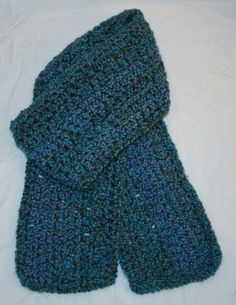 Blue Green and Lavender Long Crochet Scarf by GloriousCreations5