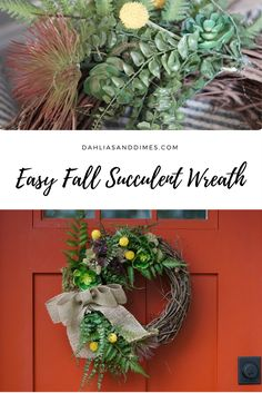 easy, affordable fall succulent wreath tutorial