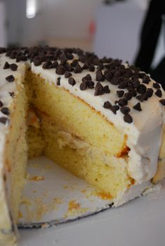 Chocolate Chip Cookie Dough Cake « The Domestic Rebel