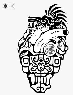 Mayan Tattoos, Mexican Art Tattoos, Indian Tattoos, Chicano Art, Chicano Tattoos, Henne Tattoo, Mayan Symbols, Viking Symbols, Egyptian Symbols