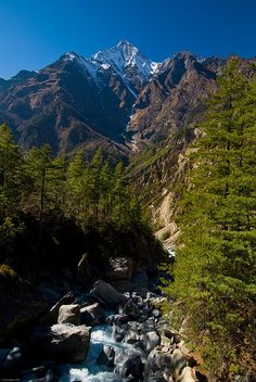 Glacial river at the base of Annapurna III, Himalayas, Nepal (by James Barker). - See more at: http://visitheworld.tumblr.com/post/52314352566/glacial-river-at-the-base-of-annapurna-iii#sthash.joGPvlkB.dpuf