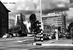 Above: Date circa Intersection of Second Street/Baker Ave, facing east.Part of Anglican cathedral on left, famous Rixi Renault. Zimbabwe Africa, Anglican Cathedral, Walkabout, Salisbury, Street View, Memories, Memoirs, Souvenirs, Remember This