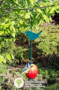 Кормушка для птиц подвесная Esschert Design.Оригинальные кормушки для птиц - держатель для яблока или кусочков сала. Для легкого нанизывания корма нижняя часть - ножка откручивается.