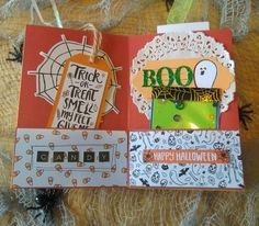 Halloween Mini Album Halloween Mini Albums, Halloween Projects, Happy Halloween, Craft Supplies, Blog, Crafts, Design, Manualidades