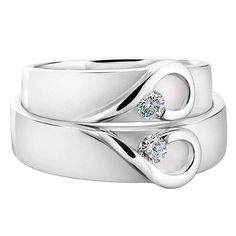 His and hers wedding bands.  Do you like these?