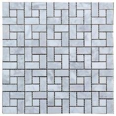 White Carrara Honed Mosaic Target Tile modern-mosaic-tile