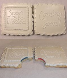 Gender reveal cookies!!  GREAT way to surprise yourself...and family and friends! www.sweetsbysteph.com