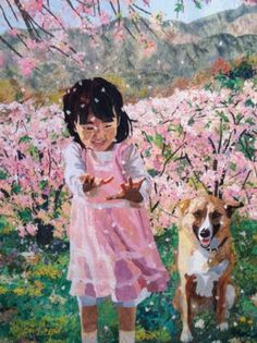 """""""Sakura Sakura"""" (I am researching to find the artists name, posted by Arvida Brustad)  The techniquie was pioneered by Japanese artist Noriko Endo who is an award winning 'confetti' landscape quilt artist. I met her at the 2012 International Quilt Association's festival in Houston, Texas. Noriko is a talented artist, patient teacher and has a heart of gold."""