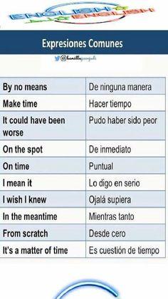 Spanish Grammar, Learn English Grammar, Spanish English, English Idioms, English Vocabulary Words, Spanish Language Learning, English Phrases, Learn English Words, Advanced English Vocabulary