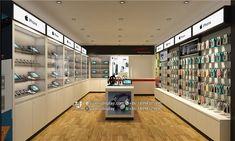 Phone shop interior design - guangzhou xinda decoration design co. Shop Interior Design, Store Design, Mobile Shop Design, Visual Merchandising, Mobile Phone Shops, Electronic Shop, Phone Store, Accessories Display, Shop Fittings