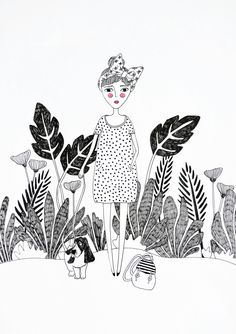 Plant Love & Lady Print