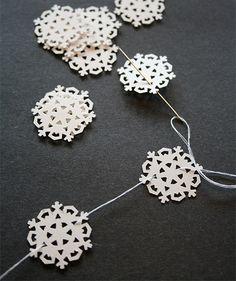 paper snowflake mini-garland