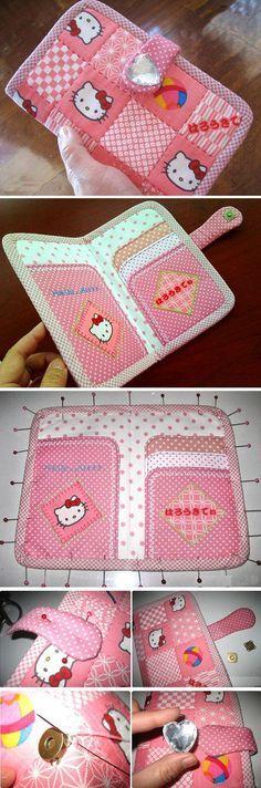 Sewing wallet tutorial bags New ideas Diy Wallet, Fabric Wallet, Wallet Tutorial, Fabric Bags, Diy Tutorial, Sewing Tutorials, Sewing Crafts, Sewing Projects, Sewing Patterns