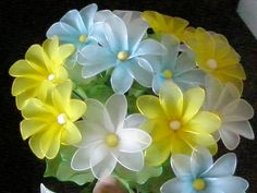 PICTURE ONLY  Nylon flowers - Handmade Nylon Flowers And Jewelry