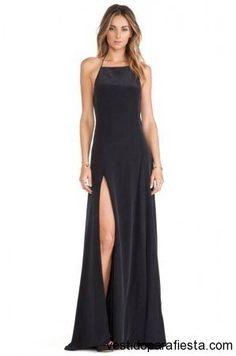 Sensuales vestidos largos color negro para fiesta de noche 2014…
