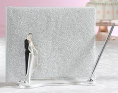 Couple Guest Book Holder With Pen Caucasian