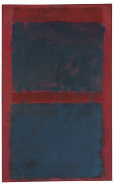 Mark Rothko (1903-1970) Untitled (Black on Maroon) oil on canvas Painted in 1958 - Christie's Post-War and Contemporary Evening Sale on May 15 - Estimate: $15,000,000 – $20,000,000Price Realized: $27,003,750