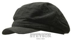 STETSON-CAP-KAPPE-SCHIRMMUTZE-MUTZE-PEABODY-BAUMWOLLE-LEINEN-1-SCHWARZ-S-TREND