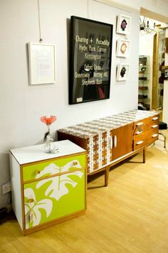 Upcycled Furniture by Lucy Turner Hand Painted Furniture, Retro Furniture, Plywood Furniture, Repurposed Furniture, Furniture Decor, Furniture Design, Decorating Your Home, Diy Home Decor, Upcycled Furniture Before And After