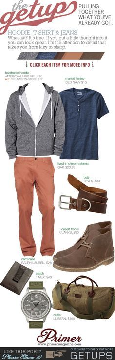 The Getup: Hoodie, T-Shirt & Jeans - Primer