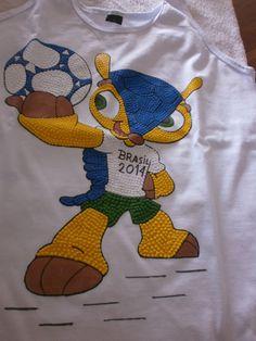 Regata Masculina com Mascote Copa 2014