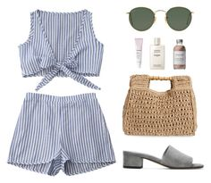 """SM492"" by sartorialminimalist ❤ liked on Polyvore featuring San Diego Hat Co., Maryam Nassir Zadeh, Ray-Ban, Glossier, Chanel and French Girl"