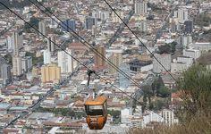 Passeio de teleférico descortina toda a cidade de Poços de Caldas, minas Gerais - BRASIL