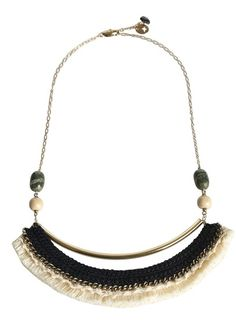 Collier avec franges Nekao DORE by SESSUN