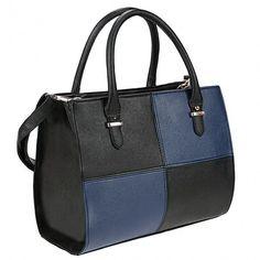 Ladies Fashion Bags Tote Handbag Women's Check Plaid Casual Faux Leather Shoulder Bag