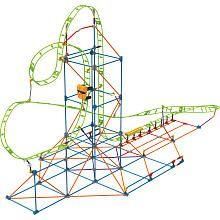 KNEX Infinite Journey Roller Coaster Building Set 347 Pieces