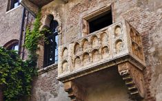 Go leave a note. ::  Star-crossed tourists who leave sentimental notes in the... courtyard beneath the   balcony where Juliet is said to have been wooed by Romeo.  #bucketlist