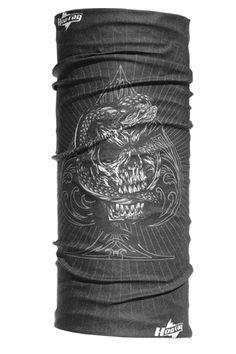 Ace of Snakes (Black) | Hoo Rag hoorag.com