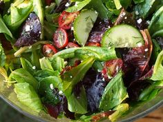Simplest Greek Salad with Lemon-Oregano Vinaigrette by therecipegirl #Salad #Greek_Salad #therecipegirl