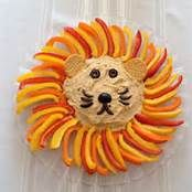 Pinterest Lion Head Veggie Tray