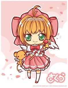 CCS: Sakura-chan by MoogleGurl on DeviantArt Kawaii Chibi, Cute Chibi, Kawaii Cute, Anime Chibi, Kawaii Anime, Anime Manga, Syaoran, Cardcaptor Sakura, Tasty Peach Studios