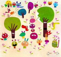 Little monsters and walking trees by nicolas-gouny-art on DeviantArt