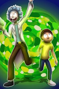 Rick And Morty Fan Artwork Desktop Pictures, Rick And Morty, Tinkerbell, Hd Wallpaper, Disney Characters, Fictional Characters, Animation, Fan, Cartoon
