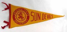 Vintage Arizona State University Felt Football Pennant Sun Devils | eBay