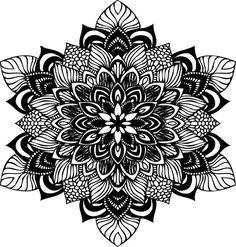 Mandala SVG file for cricut design space, zentangle, flower, intricate design Sunflower Mandala Tattoo, Geometric Mandala Tattoo, Mandala Drawing, Mandala Art, Mandela Tattoo, Mandala Coloring Pages, Vinyl Cutter, Stencil Painting, Flower Svg