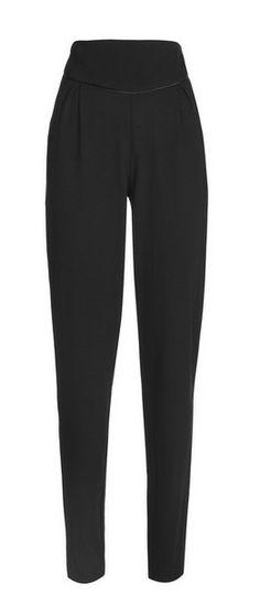 Satin Detail Merino Wool Trousers