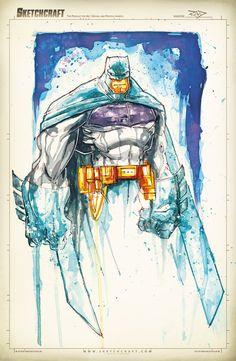 Batman Saucy Sketch by RobDuenas on DeviantArt Batman Hush, I Am Batman, Batman Art, Comic Character, Character Design, Illustration Batman, Batman Redesign, Batman Drawing, Unique Drawings