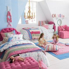 Inspiration for a young girl's room makeover. Love the names on the walls. Girls Bedroom, Bedroom Decor, Bedroom Ideas, Daughters Room, Dream Rooms, Dream Bedroom, Little Girl Rooms, Cool Beds, Room Inspiration