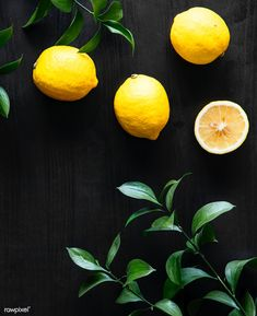 Fresh yellow lemons on black background photo by Rawpixel on Envato Elements Fruit Photography, Flat Lay Photography, Still Life Photography, Photography Ideas, Black Photography, Lemon Background, Yellow Background, Black Background Photography, Lemon Kitchen Decor