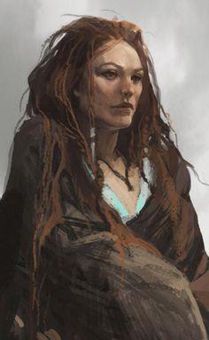 Freya Concept Art - God of War Art Gallery Fantasy Portraits, Character Portraits, Fantasy Artwork, Fantasy Women, Fantasy Rpg, Medieval Fantasy, Dark Fantasy, Dnd Characters, Fantasy Characters