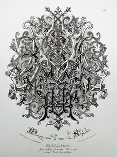 Monogram of the entire alphabet by Charles Demengeot - 1877
