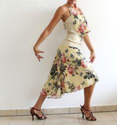 Set Chiffon Skirt and Top for Argentine Tango von CrinolinAtelier
