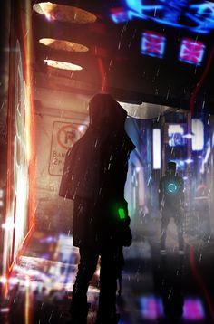 fuckyeahcyber-punk:  Cyber Attack - David Rodriguez