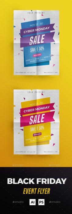 Cyber Monday Flyer Design Template PSD, AI Illustrator